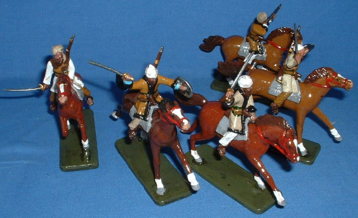 Armies in Plastic - NW Frontier Afghan Horsemen. 1/32 Scale. Gloss St