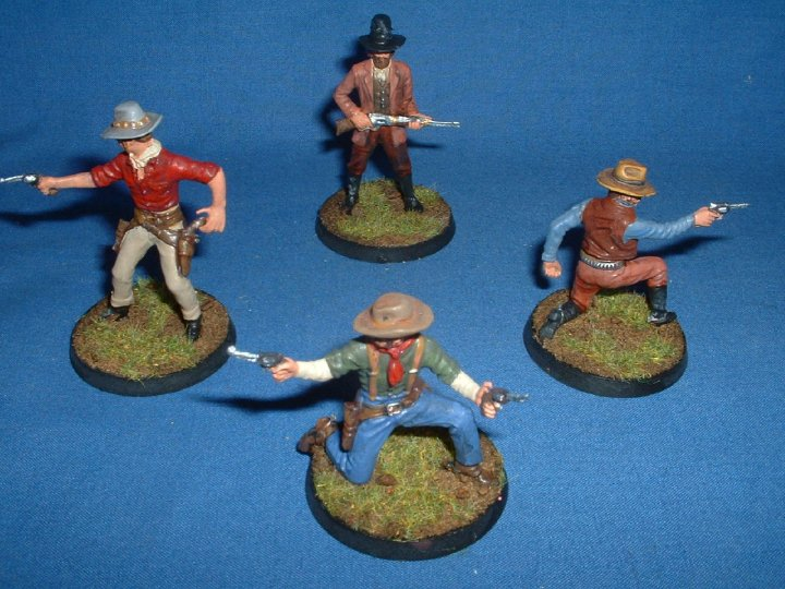 Painted Airfix 1/32 scale cowboys