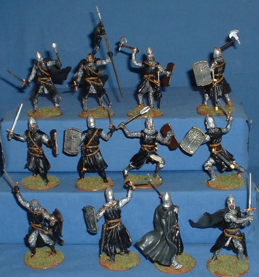 Supreme 60mm Crusaders converted into Gondor Warriors