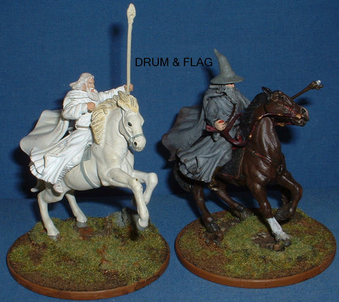 MOUNTED GANDALF - THE WHITE & THE GRAY. ARMIES OF MIDDLE EARTH
