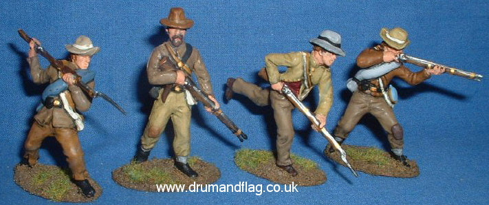 A Call to Arms Confederates painted in Butternut hues 1/32 scale