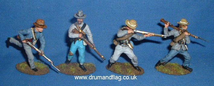 A Call to Arms Confederates painted in gray 1/32 scale