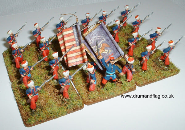 New York Zouaves 1/72 scale painted plastic