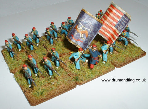 1/72 scale Union Zouaves. HaT ACW Figures