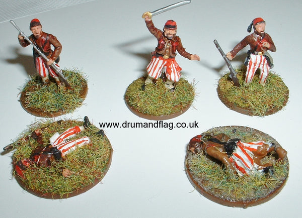 1/72 scale Louisiana Tiger Zouave Markers
