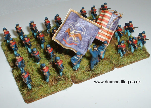 1/72 scale painted Union Infantry ACW