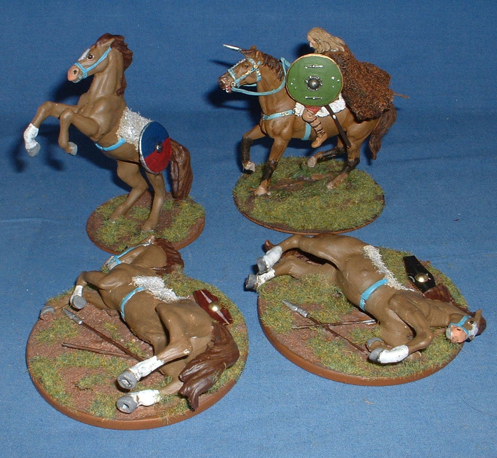 Ancient German Cavalry & Command. 60mm. Hobby Post.