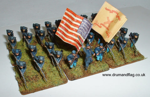 1/72 scale painted Union Infantry ACW Heavy Artillery