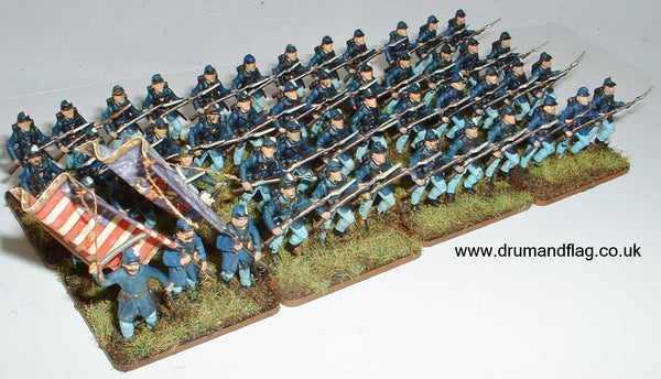 1/72 scale painted Union Infantry ACW Bucktails