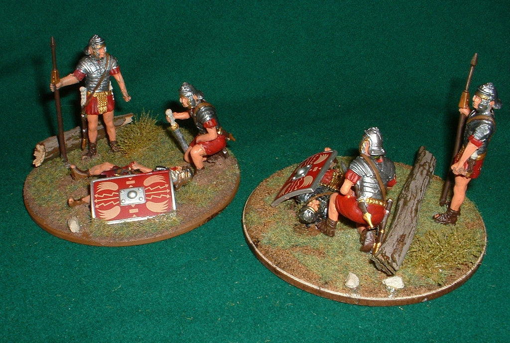 Roman Casualty Markers. Army Spent / Worn 1/32 scale