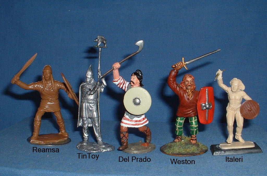 Size comparisons - Gauls. 54mm, 60mm and 1/32 scale