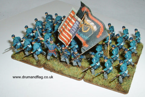1/72 scale painted Union Infantry ACW Irish Brigade