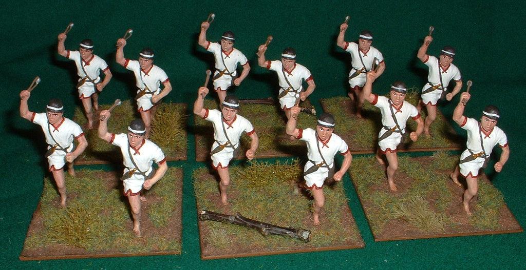 HaT 54MM Balearic Slingers. 1/32 scale. Factory PAINTED mETAL
