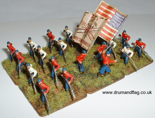 1/72 scale Union NY Fire Zouaves. HaT ACW Figures