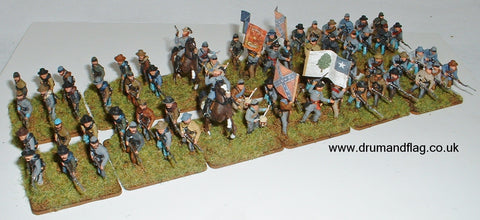 Painted Italeri 1/72 Confederates