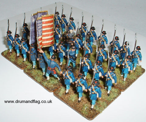 1/72 scale painted Union Infantry ACW Iron Brigade