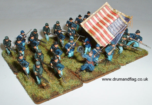 "1/72 scale painted Union Infantry ACW Western Theatre ""Bummers"""