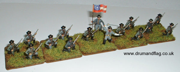 Dismounted Confederate Cavalry 1/72 scale