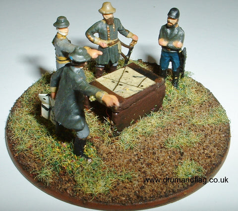 Confederate Command Stand 1/72 scale wargaming