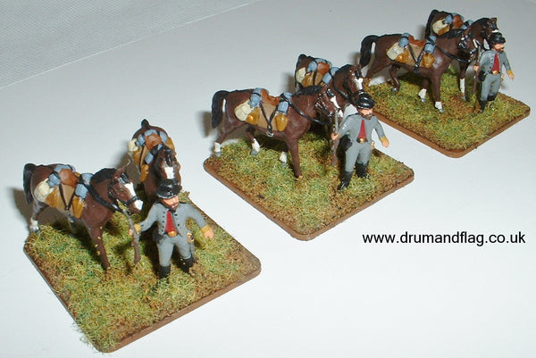 Italeri Confederate Cavalry Horse Holders
