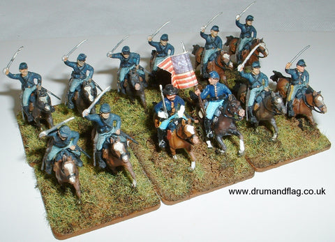 1/72 scale painted Italeri Union Cavalry