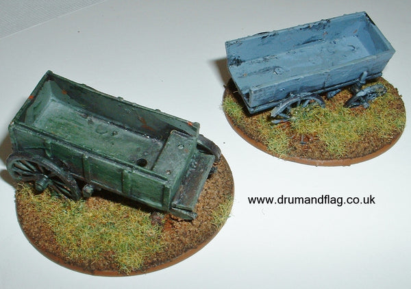 Damaged 1/72 scale wagons