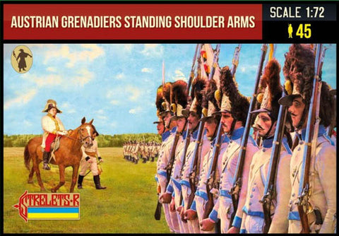 204 Austrian Grenadiers Standing Shoulder Arms - Napoleonic