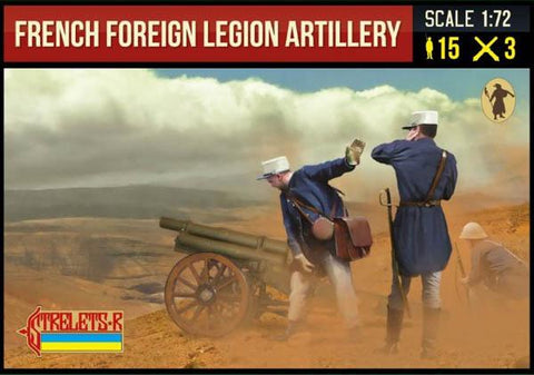 Strelets Set 290 - French Foreign Legion Artillery. 1/72 Scale Plastic Figures.