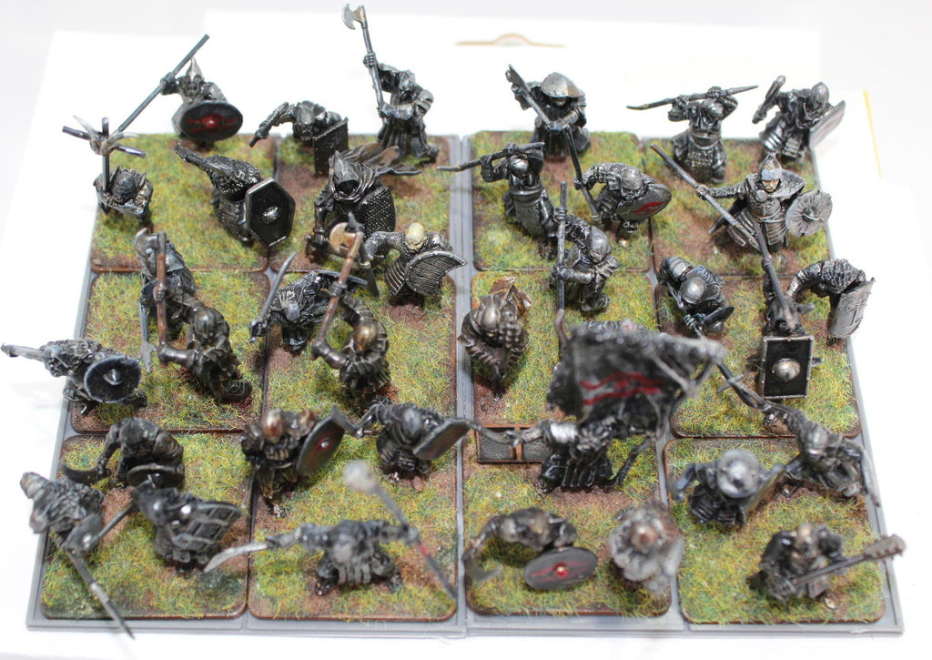 Converted Games Workshop and other Orcs on Victrix Bases