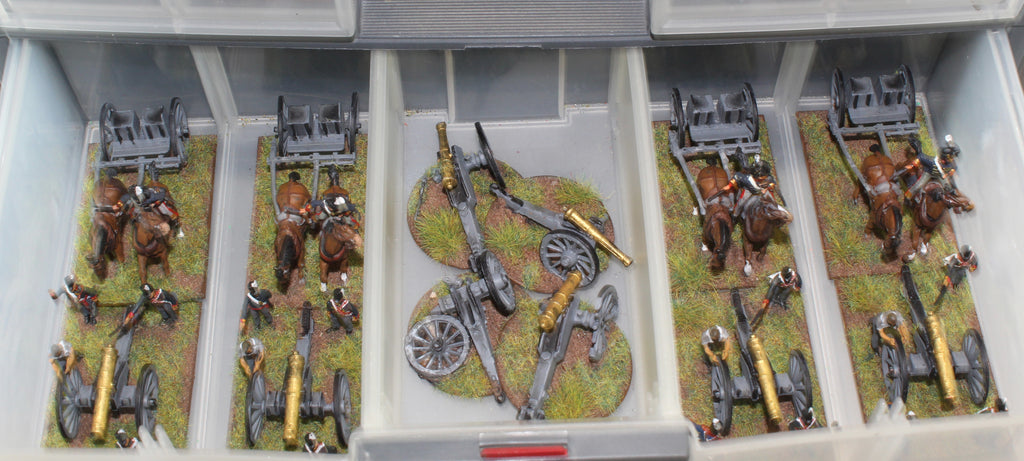 Napoleonic British Waterloo Foot Artillery Revell 1/72 scale plastic figures