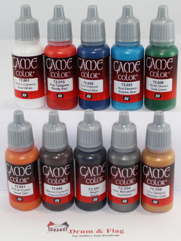 Vallejo Game Color Paints - available at Drum & Flag