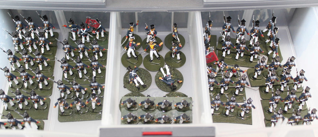 Napoleonic Polish Line Infantry from Waterloo1815. 1/72 scale