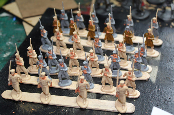Painting 1/72 Napoleonics - lolly stick method