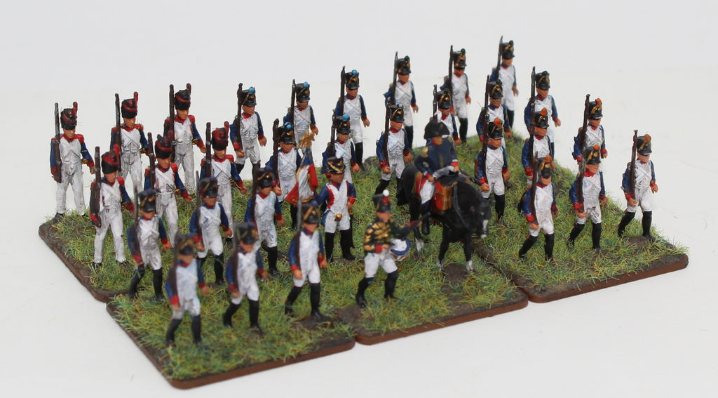 Italeri French Line Infantry - Marching poses from set 6002