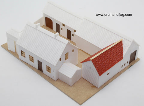 Quatre Bras Farm 1/72 scale model