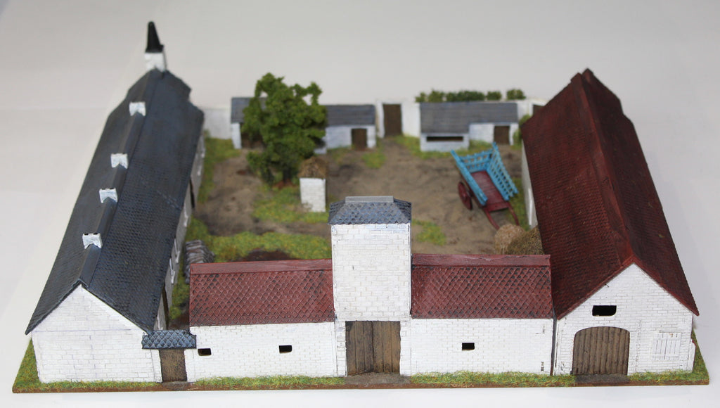 Mont St Jean Farm. Airfix 1/72 scale Waterloo Farmhouse Conversion