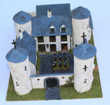 Chateau de Looz. Battle of Ligny 1815. 1/72 Scale Scratch Builds by Chris Dodson
