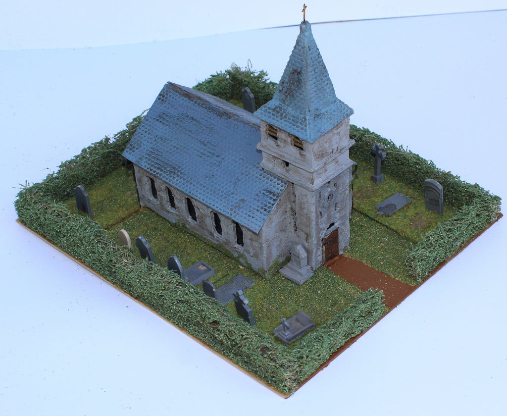 Saint Amand Church. Battle of Ligny 1815. 1/72 Scale. Chris Dodson