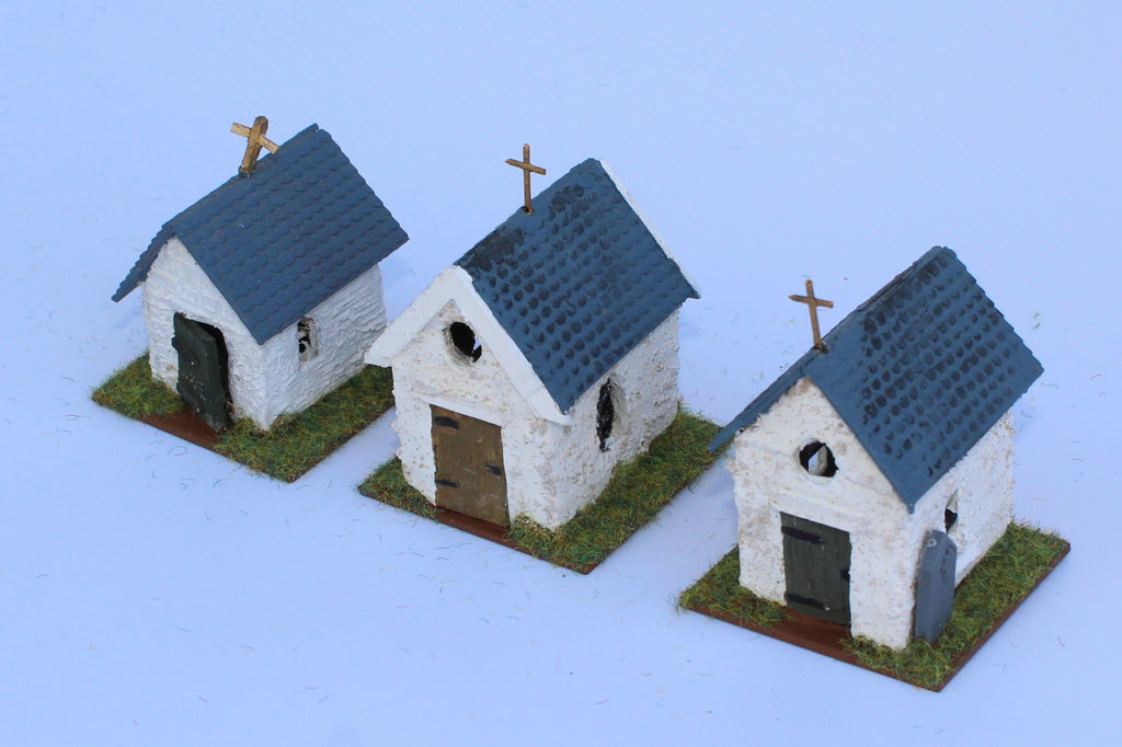 Belgian Roadside Chapels. Battle of Ligny 1815. 1/72 Scale. Chris Dodson