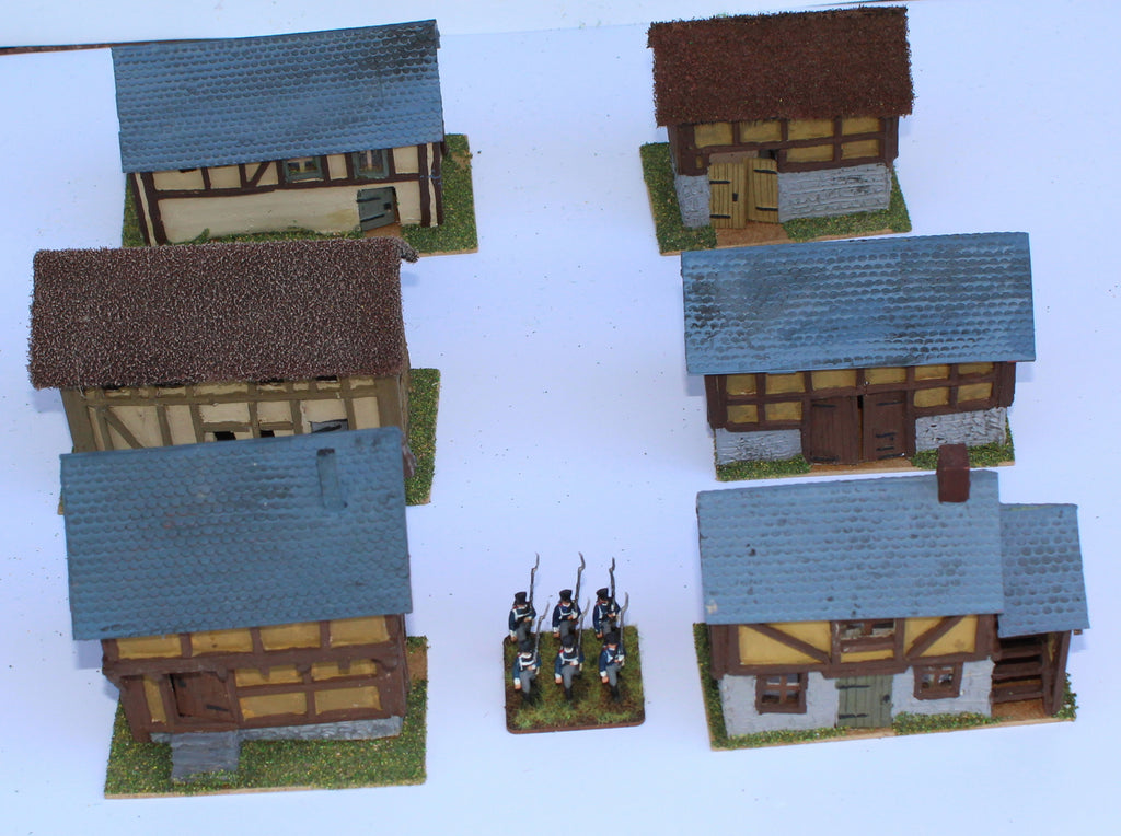 Timber Framed Buildings. Battle of Ligny 1815. 1/72 Scale. Chris Dodson