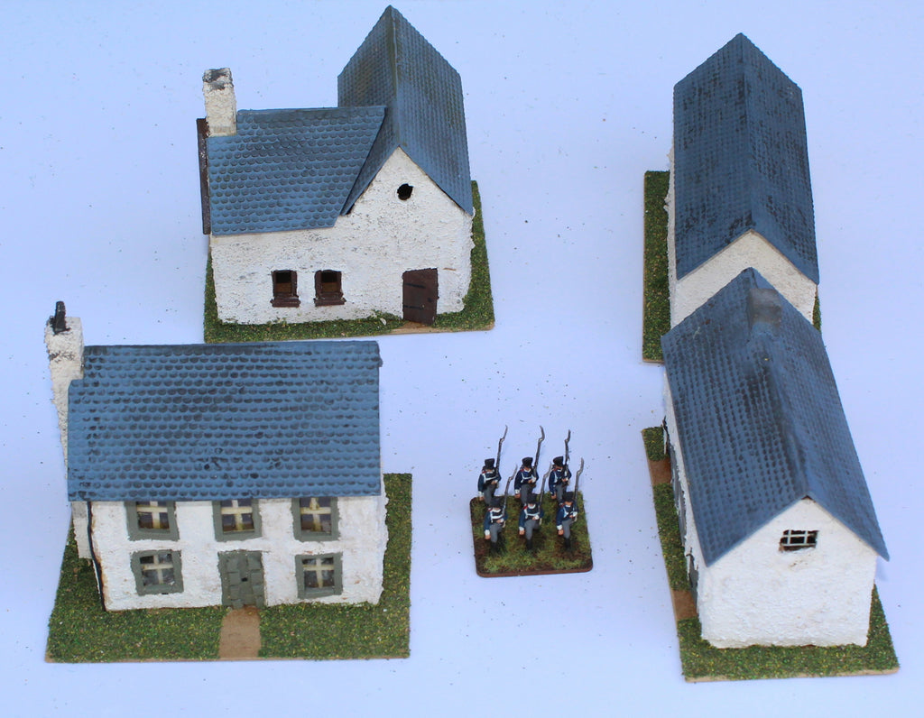Village Buildings. Battle of Ligny 1815. 1/72 Scale. Chris Dodson