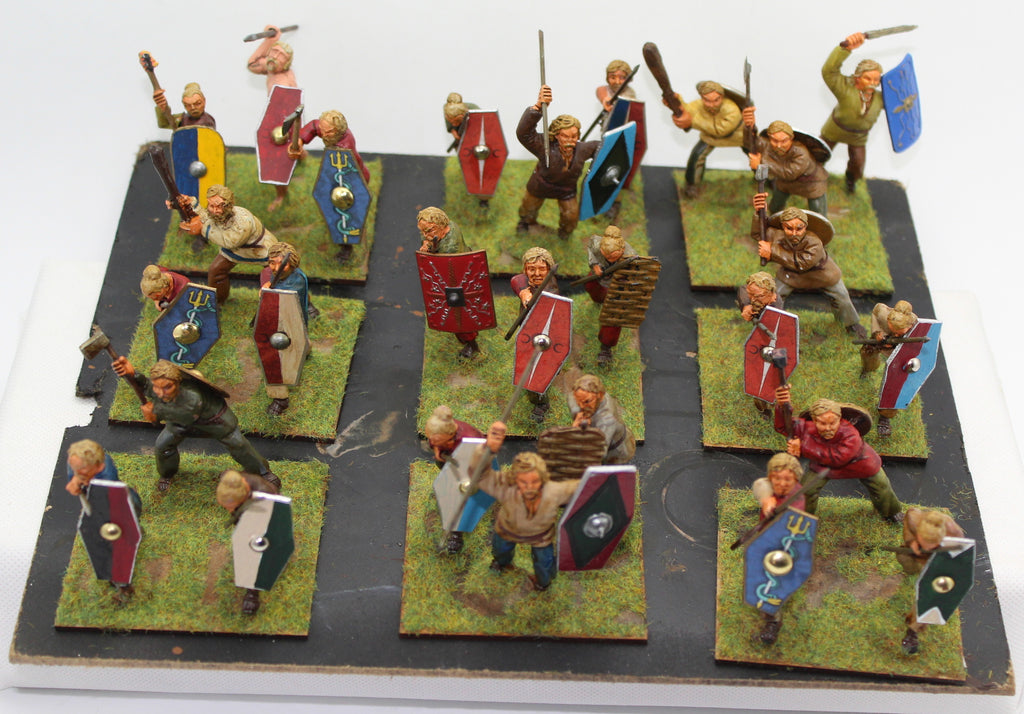 Ancient German Warriors 1/32 Scale or 54mm painted plastic. Conversions