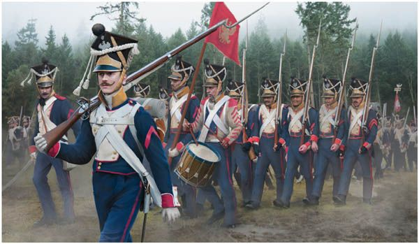 142 Napoleonic Polish Infantry on the March (Nap)