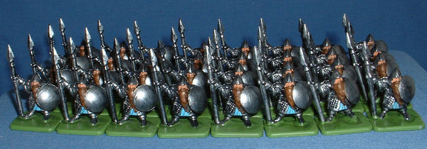 em4 Miniatures - Plastic Dwarves. Spearmen, Axemen and Crossbowmen.