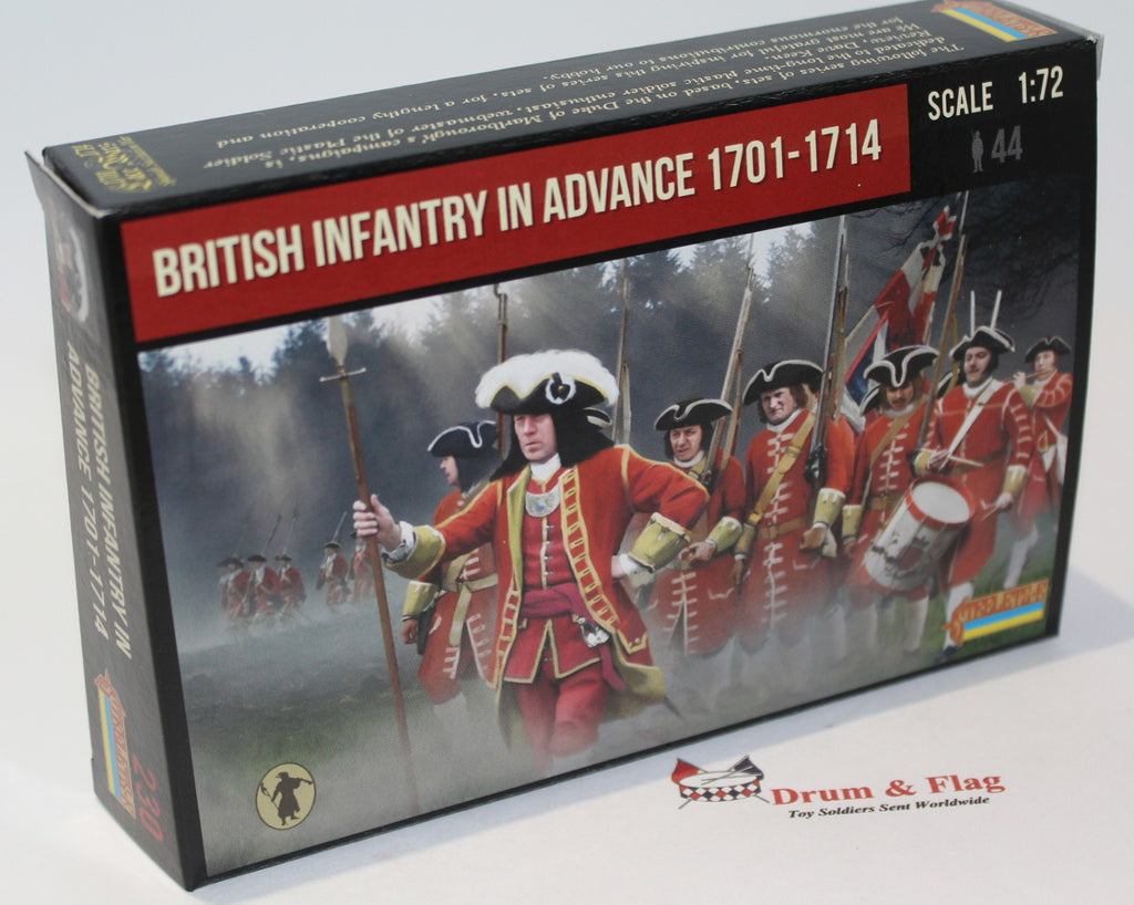 Strelets #230 - British Infantry Advancing 1701-1714 War of Spanish Succession. 1/72 Scale