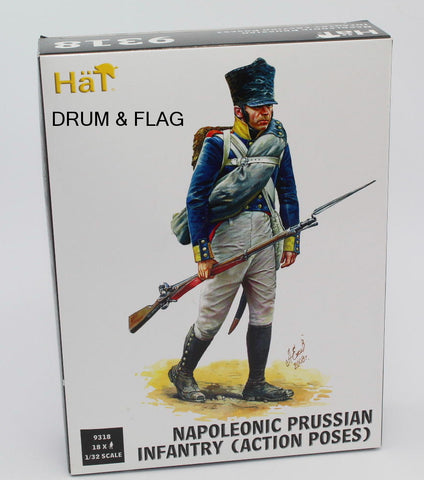 HAT 9318 - NAPOLEONIC PRUSSIAN INFANTRY (ACTION). 1/32 SCALE