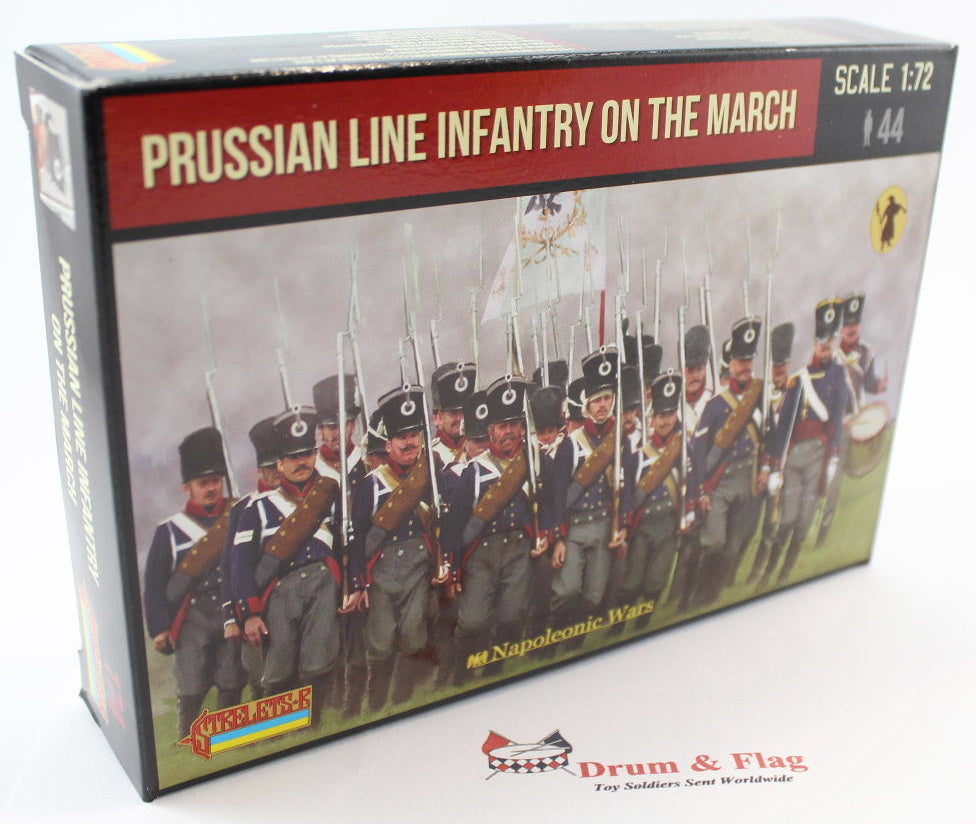 Strelets Set 174 - Napoleonic Prussian Infantry on the March. 1/72 Scale Plastic Figures