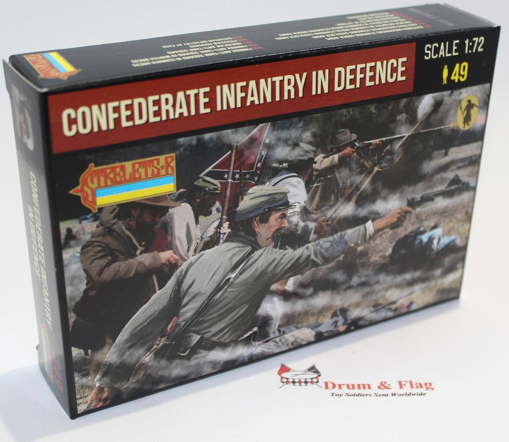 Strelets Set 249 - Confederate Infantry in Defence - American Civil War. 1/72 scale
