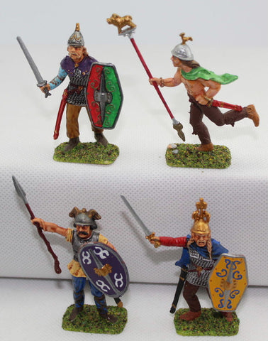 Italeri Gaul Warriors Command. Painted 1/32 Scale Plastic. Ancient Celts / Britons. LOT A