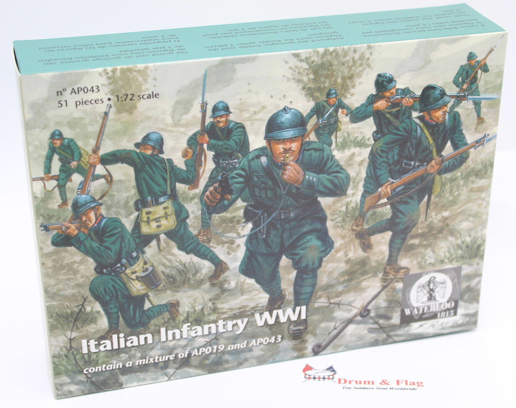 WATERLOO 1815 AP043 ITALIAN INFANTRY WWI. 1/72 SCALE